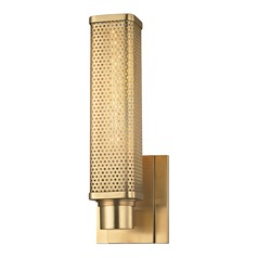 Hudson Valley Lighting Gibbs Aged Brass Sconce