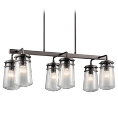 Seeded Glass Outdoor Hanging Light Bronze Kichler Lighting