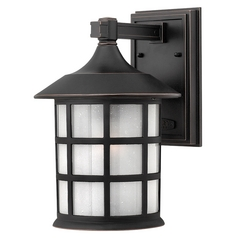 Outdoor Wall Light with White Glass in Olde Penny Finish