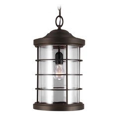 Sea Gull Lighting Sauganash Antique Bronze Outdoor Hanging Light