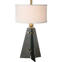 Uttermost Everly Smoke Glass Table Lamp