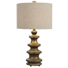 Uttermost Guadalete Antiqued Gold Lamp