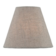 Beige Coolie Lamp Shade with Clip-on Assembly