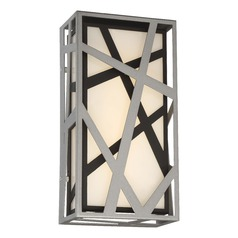 George Kovacs Duvera Sand Silver & Sand Black LED Outdoor Wall Light