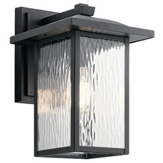 Arts and Crafts Water Glass Outdoor Wall Light Black Capanna by Kichler Lighting