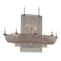 Chandelier in Antique Silver Finish