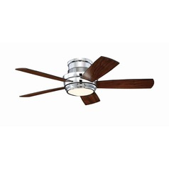Craftmade Lighting Tempo Hugger Chrome LED Ceiling Fan with Light