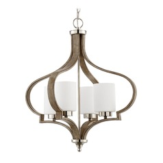 Craftmade Lighting Jasmine Polished Nickel/weathered Fir Chandelier