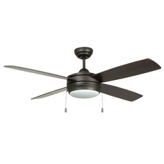52-Inch Espresso Ceiling Fan with LED Light 3000K 1200LM