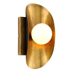 Corbett Lighting Hopper Vintage Brass Bronze Accents Sconce