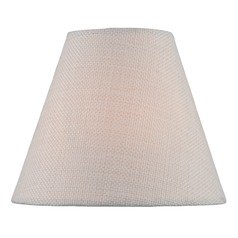 Cream Coolie Lamp Shade with Clip-on Assembly