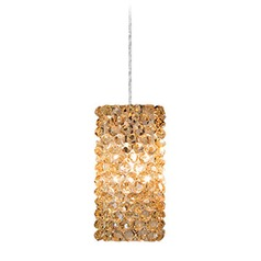 WAC Lighting Haven Chrome Mini-Pendant Light with Square Shade