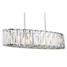 Coronette Chrome Island Light with Oblong Shade