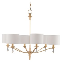 Currey and Company Bonnington Satin Brass Chandelier