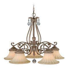 Avenant French Bronze Chandelier by Vaxcel Lighting