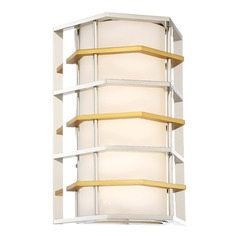 George Kovacs Levels Polished Nickel W/honey Gold LED Sconce