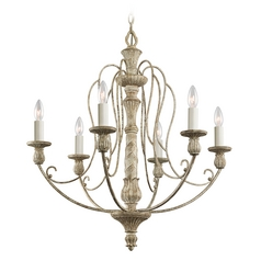 Kichler Chandelier in Distressed Antique White Finish