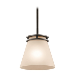 Kichler Lighting Kichler Lighting Hendrik Olde Bronze Mini-Pendant Light with Empire Shade 1687OZ