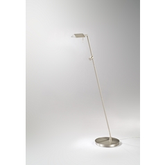 Holtkoetter Modern Floor Lamp in Satin Nickel Finish