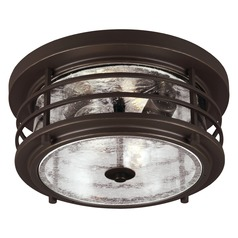 Seeded Gl Close To Ceiling Light Bronze Sea Gull Lighting