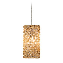 WAC Lighting Haven Brushed Nickel Mini-Pendant Light with Square Shade