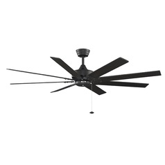 Fanimation Fans Levon Black Ceiling Fan Without Light