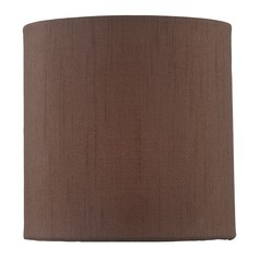 Coffee Cylindrical Lamp Shade with Spider Assembly