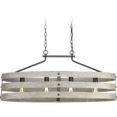 Gulliver 4-Light Island Light with Faux Wood Finish