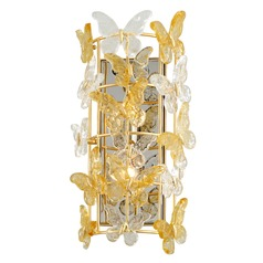 Corbett Lighting Milan Gold Leaf Sconce