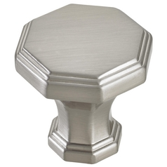 Satin Nickel Cabinet Knob 1-3/8-inch