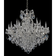 Crystorama Maria Theresa 2-Tier 19-Light Crystal Chandelier in Polished Chrome