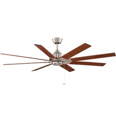 Fanimation Fans Levon Brushed Nickel Ceiling Fan Without Light
