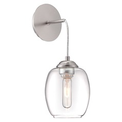 George Kovacs Bubble Brushed Nickel Mini-Pendant Light with Oblong Shade