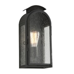 Frosted Seeded Glass Outdoor Wall Light Iron Troy Lighting