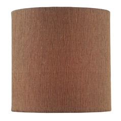 Mocha Cylindrical Lamp Shade with Clip-on Assembly