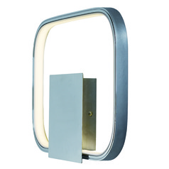 Squared Polished Chrome LED Sconce