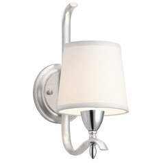 Kichler Lighting Cordova Silver Leaf Sconce