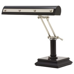 House of Troy Piano/Desk Black with Polished Nickel Accents Piano / Banker Lamp