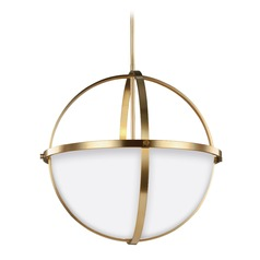 Sea Gull Lighting Alturas Satin Bronze Pendant Light with Bowl / Dome Shade