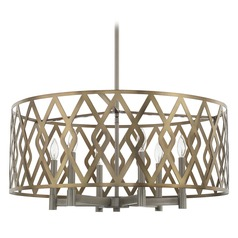 Capital Lighting Aged Metal Pendant Light with Drum Shade