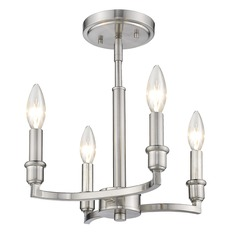 Golden Lighting Ellyn Pewter Semi-Flushmount Light