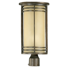 Quorum Lighting Larson Oiled Bronze Post Lighting