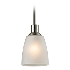 Thomas Lighting Jackson Brushed Nickel Mini-Pendant Light