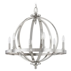 Capital Lighting Brayden Polished Nickel Pendant Light