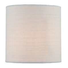 Off-White Cylindrical Lamp Shade with Spider Assembly