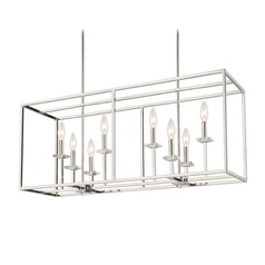 Capital Lighting Morgan Polished Nickel Island Light