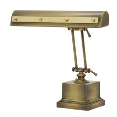 House Of Troy Piano/desk Antique Brass with Polished Brass Accents Piano / Banker Lamp