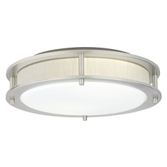 Hart Lighting Beautility Satin Nickel Flushmount Light