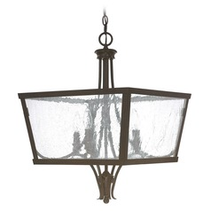 Capital Lighting Abbey Russet Pendant Light with Square Shade