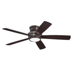 Craftmade Lighting Tempo Hugger Oiled Bronze LED Ceiling Fan with Light